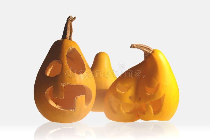Abóboras engraçadas de Halloween imagem de stock