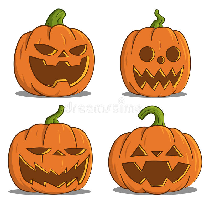 Abóboras para Halloween fotografia de stock