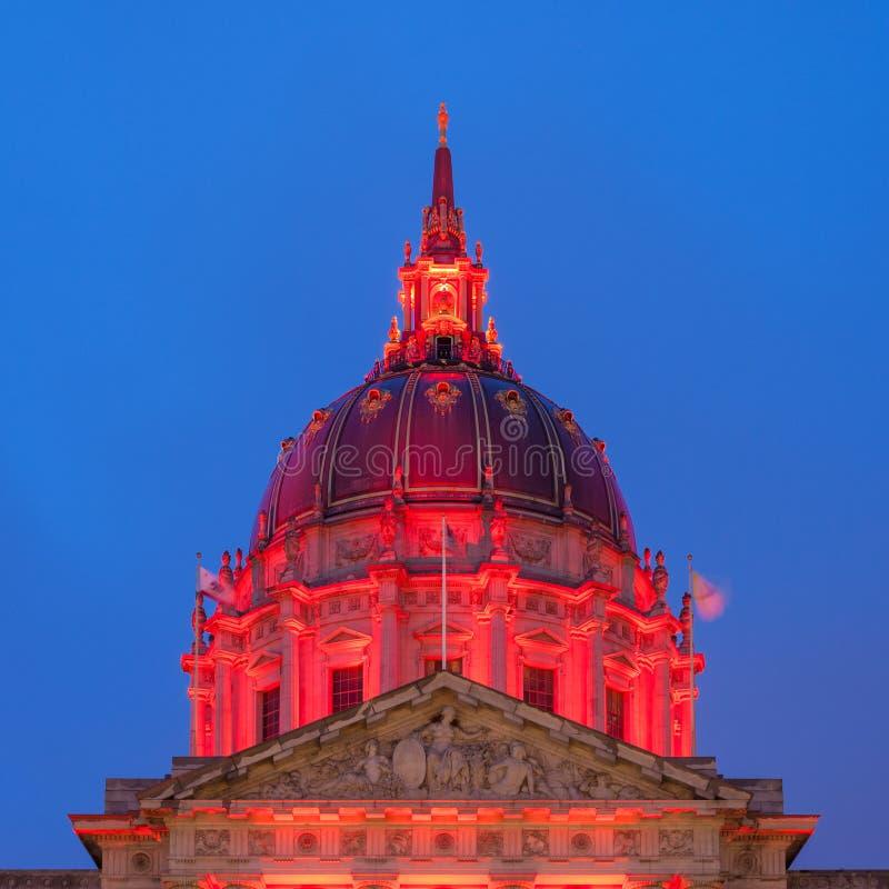 Ab?bada da c?mara municipal de San Francisco fotografia de stock royalty free