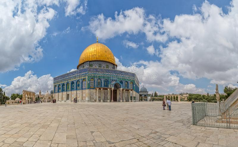 Ab?bada do Jerusal?m de Temple Mount da rocha imagens de stock royalty free