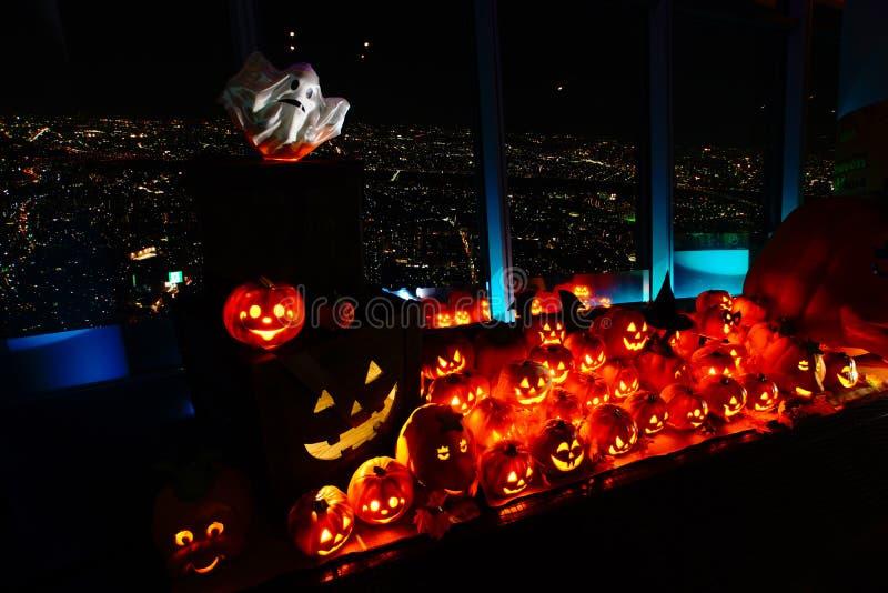Ab?bora cinzelada de Halloween fotos de stock royalty free