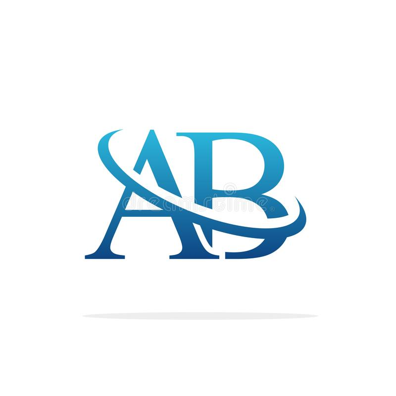 AB Creative logo design vector art stock images