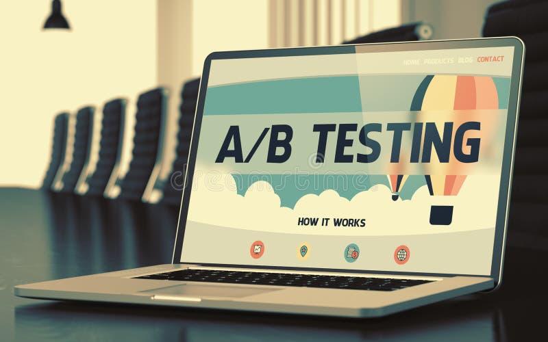 Ab-provning - på bärbar datorskärmen closeup 3d royaltyfria foton