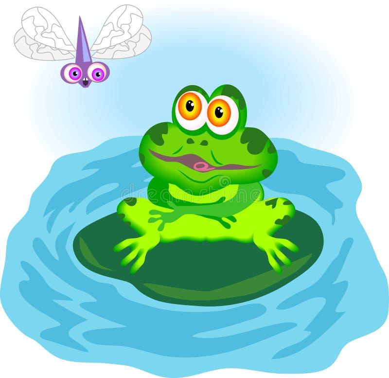 Download żaba ilustracja wektor. Ilustracja złożonej z głodny, woda - 47495