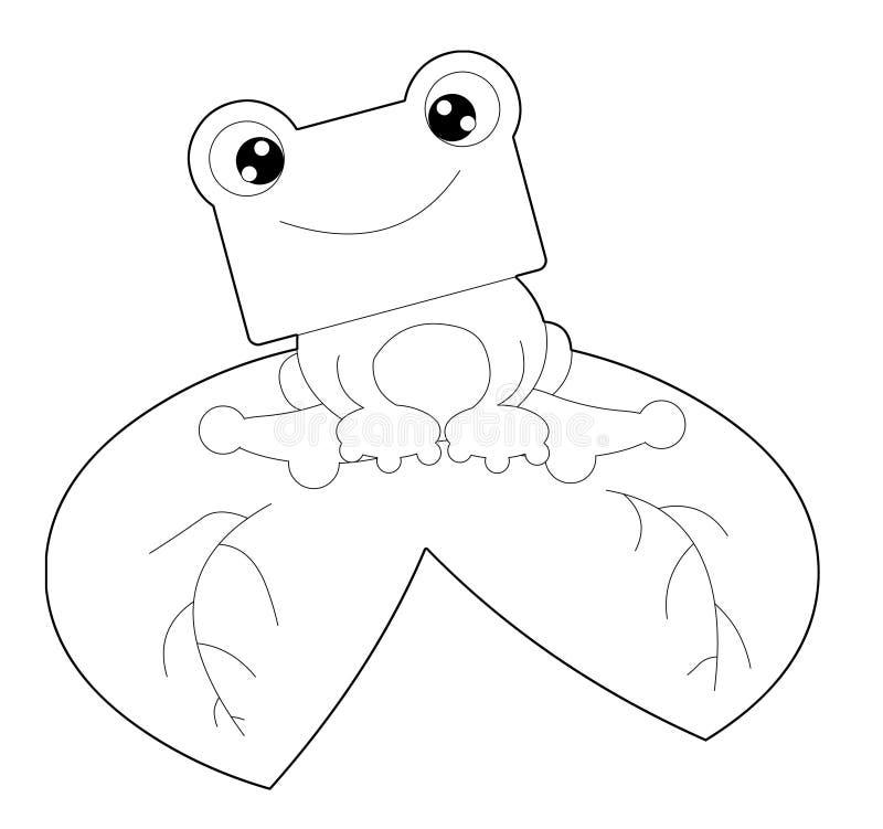 Download żaba czarny biel ilustracji. Obraz złożonej z rzeka, biały - 13525066