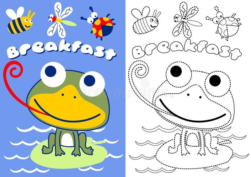 Żaba i pluskwy ilustracji