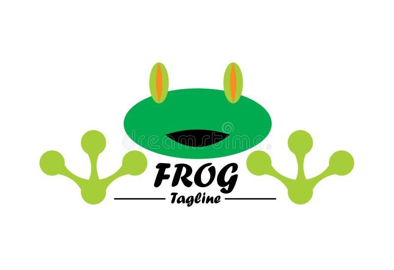 Żaba logo ilustracji