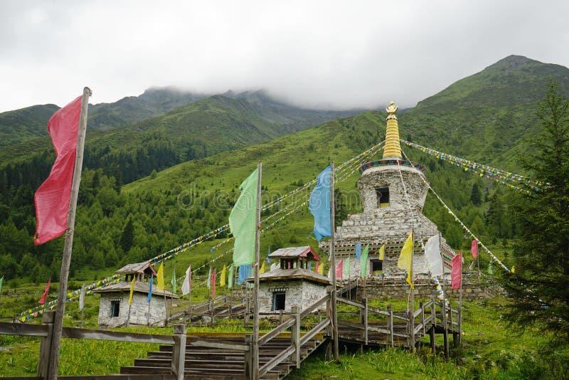 Aba prefectuur in de provincie van Sichuan, vier meisjesberg stock afbeelding