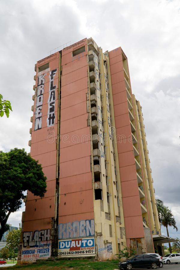 Abaandon Hotel Brasilia royalty free stock image