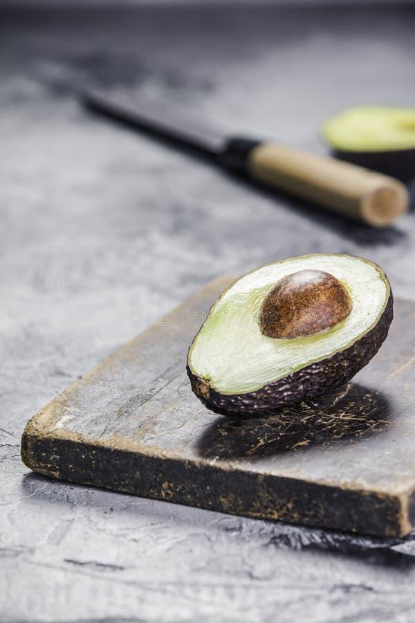 Abacate maduro verde foto de stock