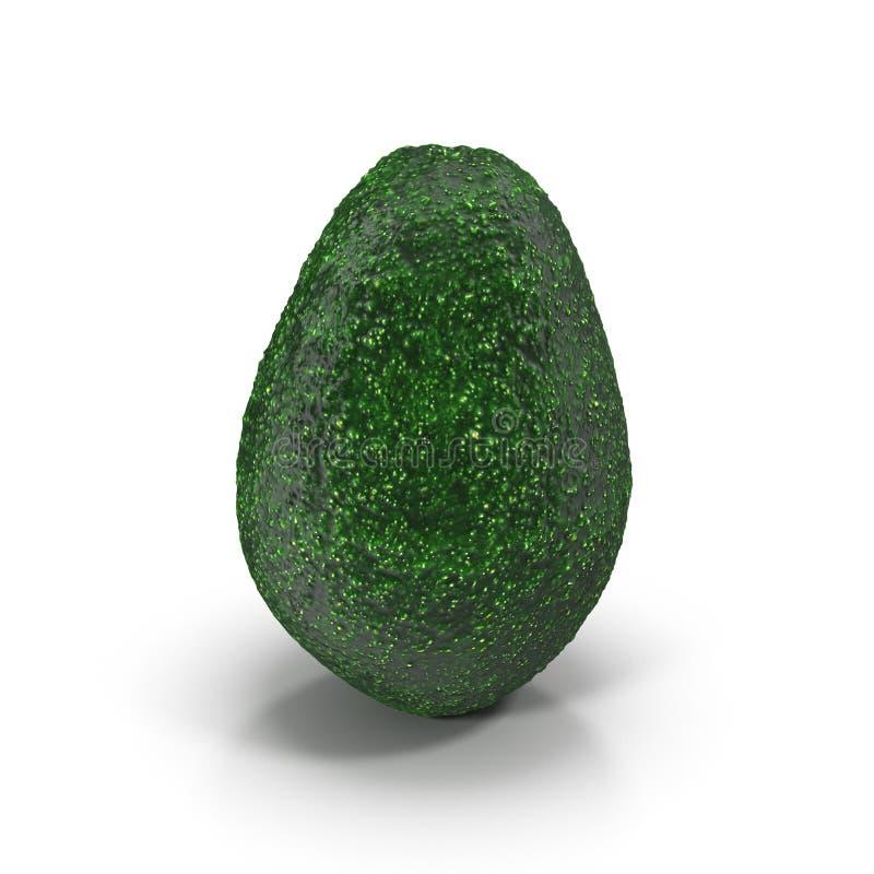Abacate verde maduro em uma ilustração branca do fundo 3D ilustração do vetor