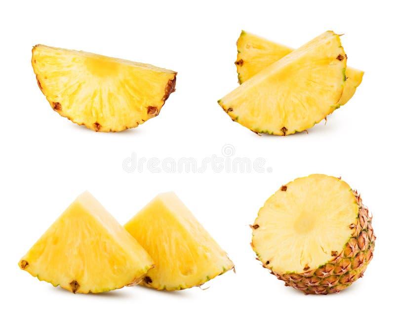 Abacaxi isolado no branco imagens de stock