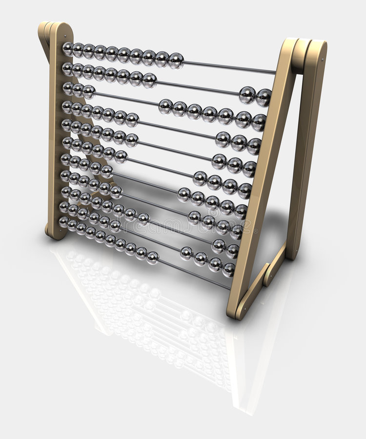 Abacus. 3d rendering of an abacus stock illustration