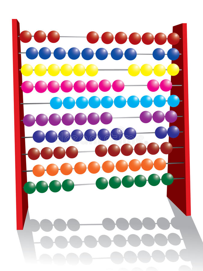 Abacus. Vector illustration on an abacus royalty free illustration