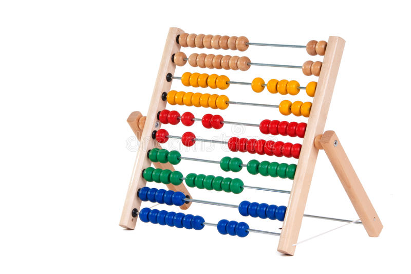 Abacus. With many colorful beads royalty free stock photo