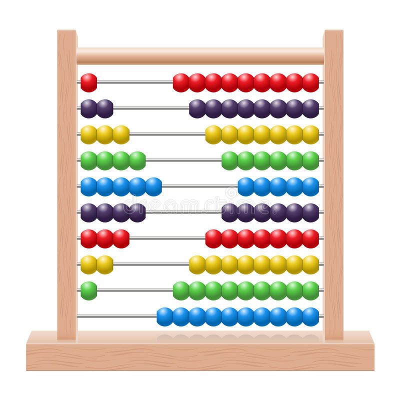 Abacus. Illustration of an abacus with rainbow colored beads vector illustration