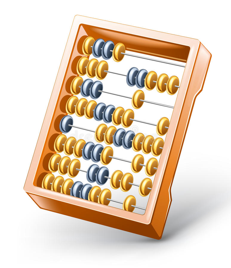 Download Abacus stock vector. Image of frame, finance, blue, design - 23634938