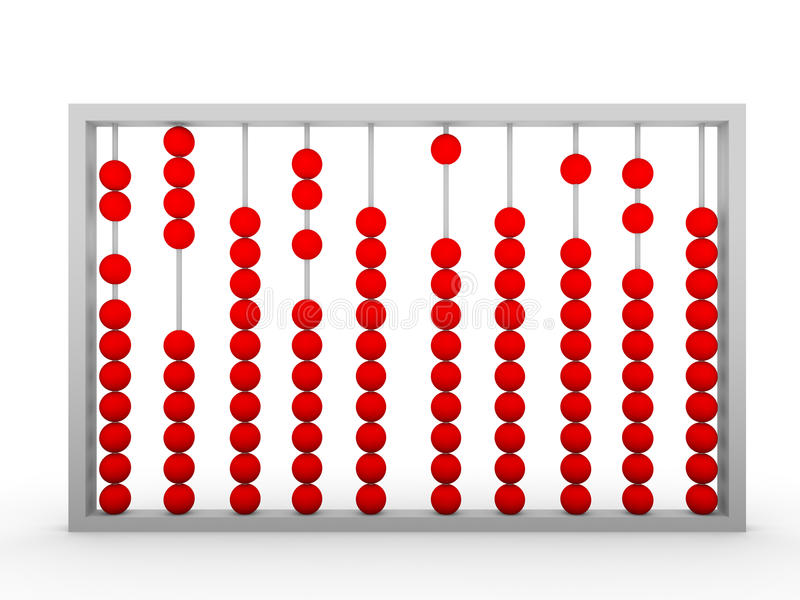 Abacus. Vintage equipment for calculation and accounting made of wood vector illustration
