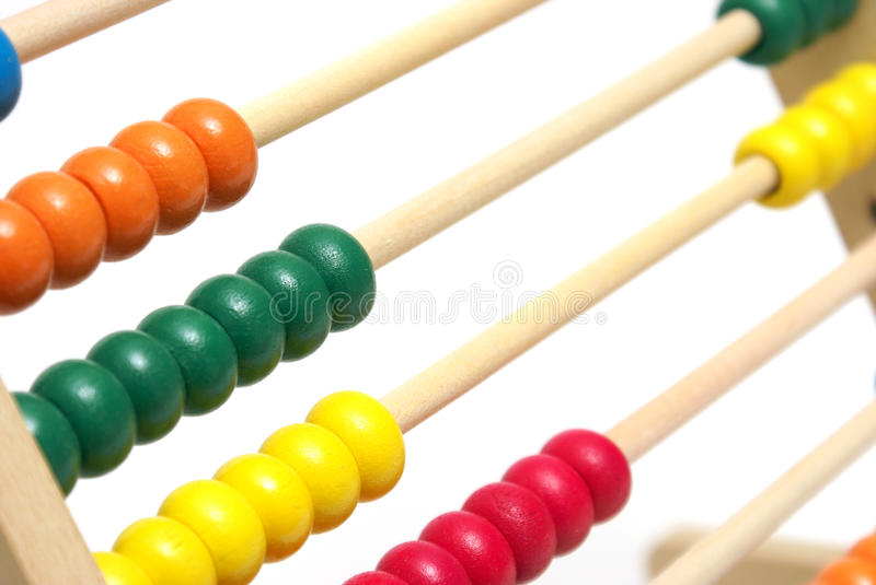 Abacus. An early educational abacus for learning math stock images
