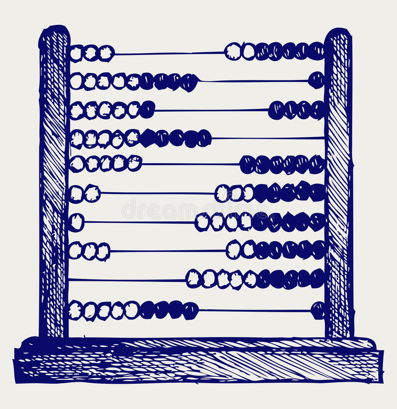 Abacus. Doodle style. Vector sketch stock illustration
