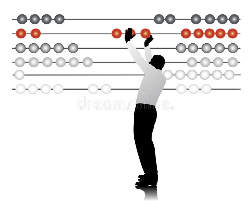 Abacus. Business man with a abacus royalty free illustration