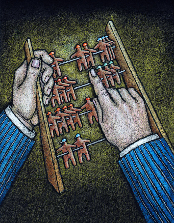 Abacus. A man with a abacus. Art is created and painted by photographer stock illustration