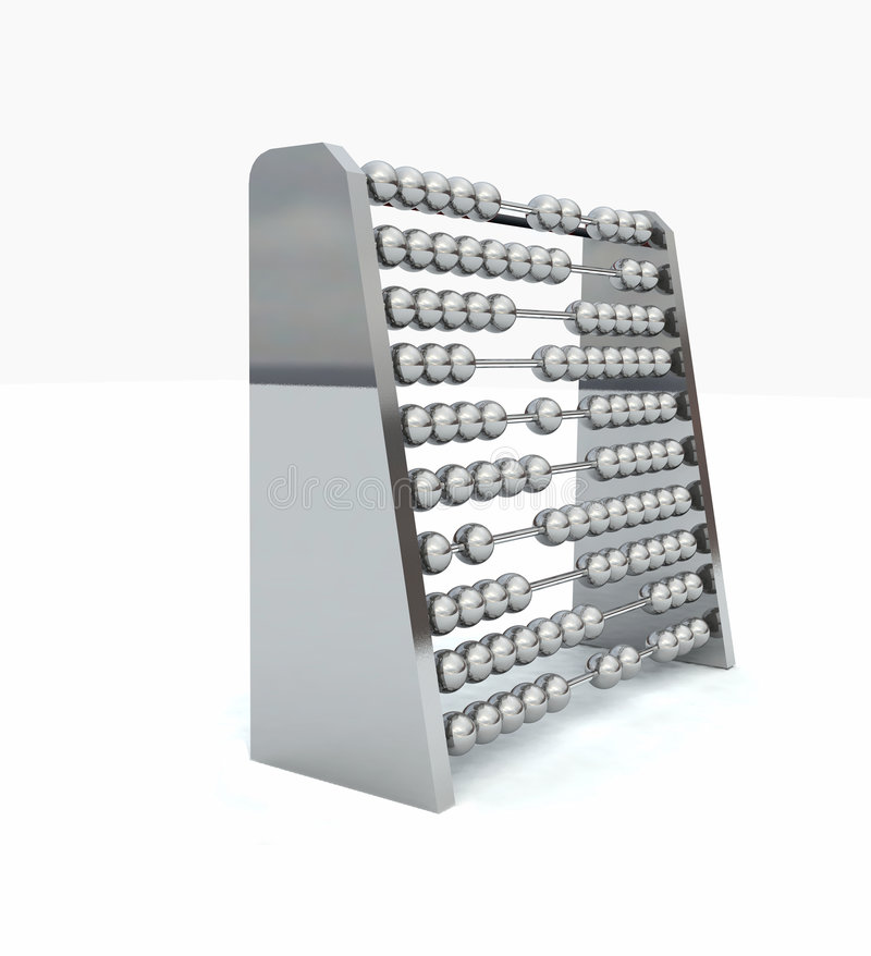 Abacus. In Chrome stock illustration