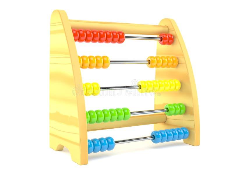 Abacus. Isolated on white background royalty free illustration
