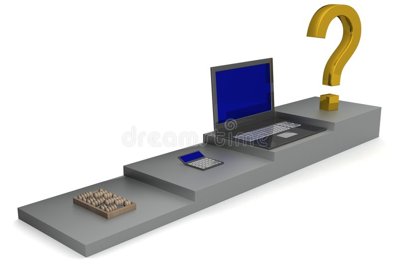 Download Abacus, Calculator, Laptop. Stock Illustration - Image: 4090831
