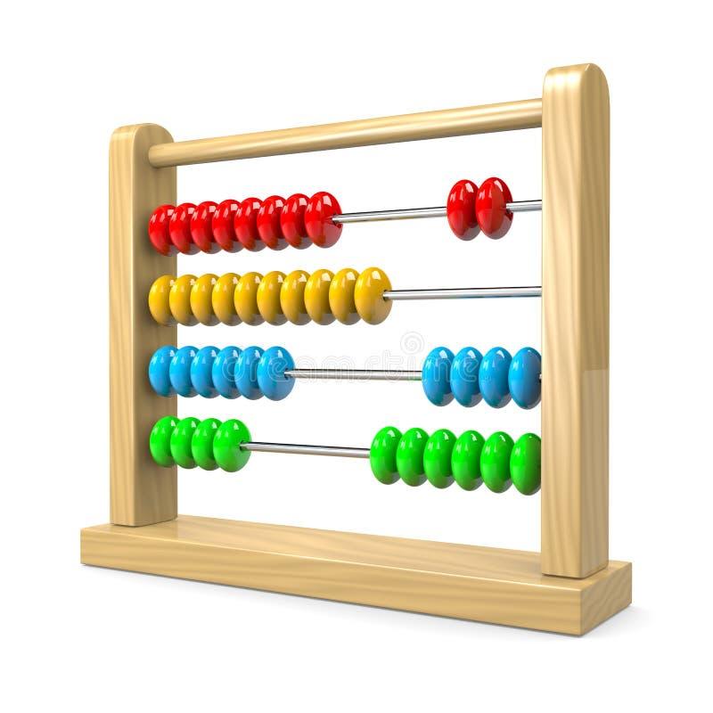 Abacus. Colorful Wooden Abacus Illustration on White Background stock illustration
