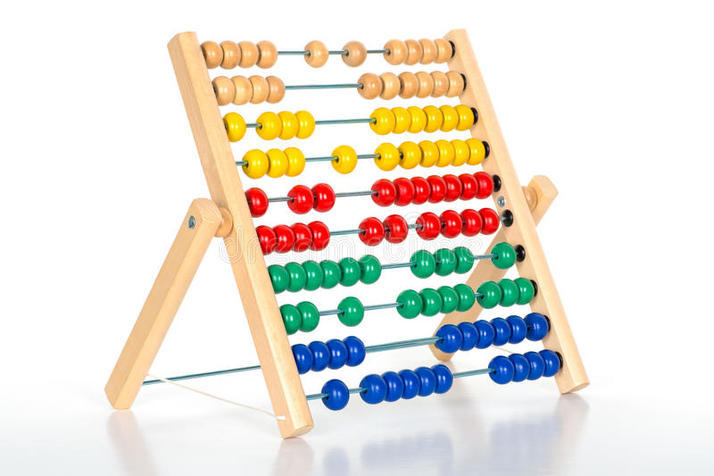 Abacus counting frame royalty free stock image
