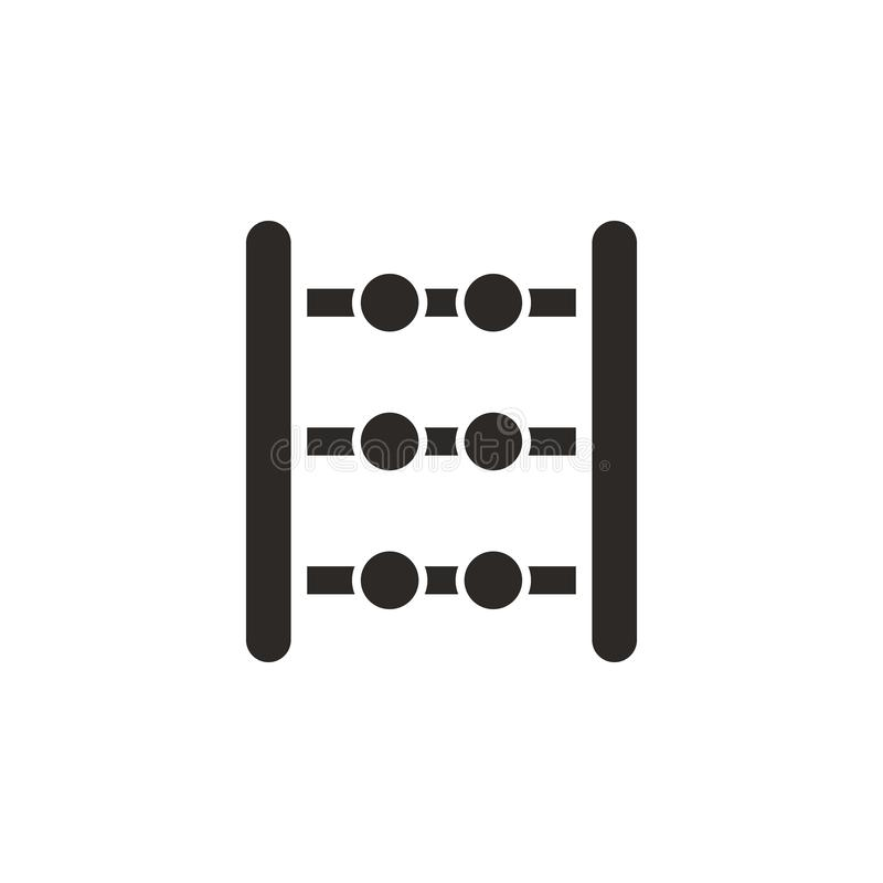 Abacus, counting icon - Vector. Simple element illustration from UI concept. Abacus, counting icon - Vector. Infographic concept stock illustration