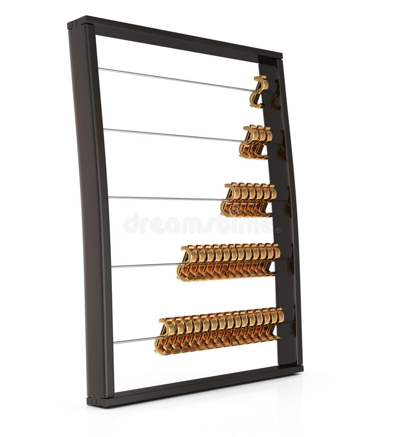 Download Abacus With Golden Dollar Sign Stock Illustration - Illustration: 26631372