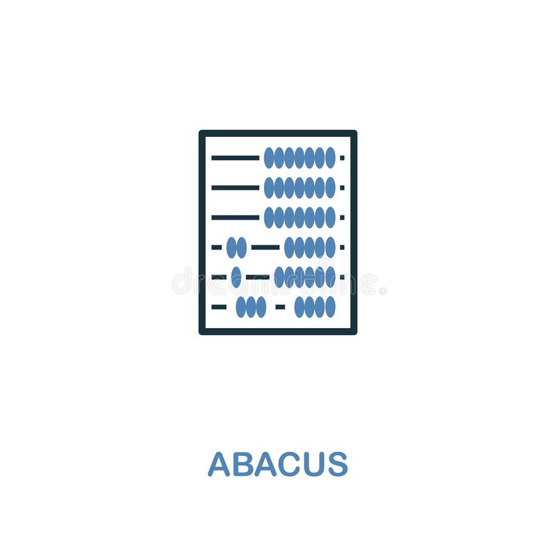 Abacus icon in two colors design. Pixel perfect symbols from personal finance icon collection. UI and UX. Illustration of abacus i. Abacus creative icon in two vector illustration
