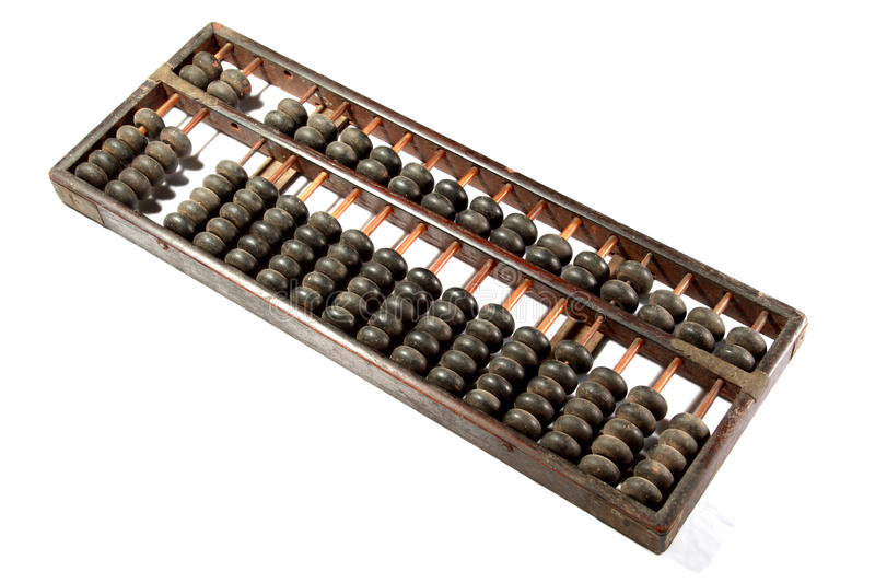 Abacus. Isolated on white background royalty free stock images