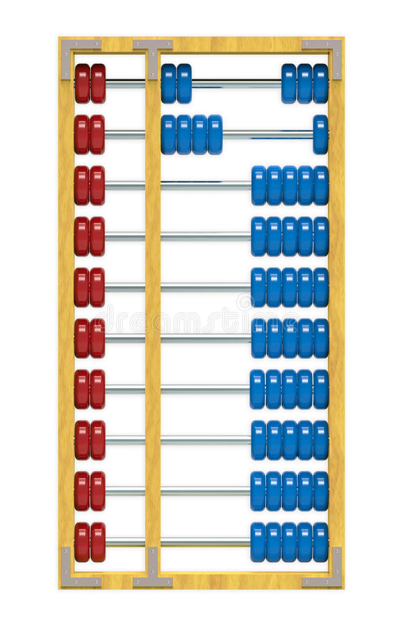 Abacus. Isolated on white background, clipping path included stock illustration