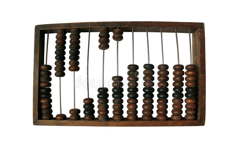 Abacus old insulated on white background royalty free stock images