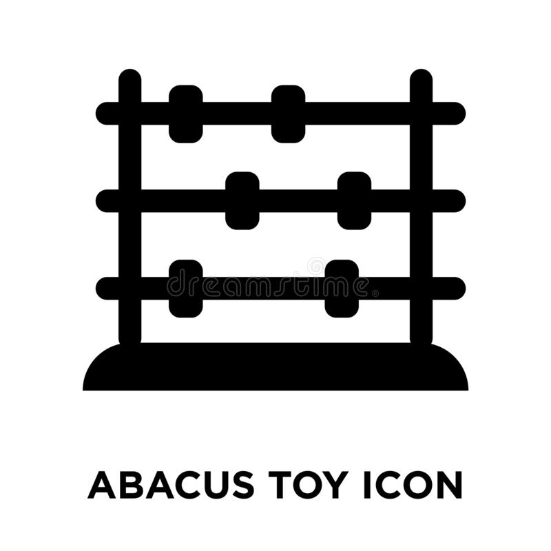 Abacus toy icon vector isolated on white background, logo concept of Abacus toy sign on transparent background, black filled vector illustration