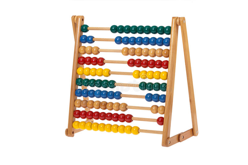 Download Abacus with wooden balls stock image. Image of math, sheet - 29165579