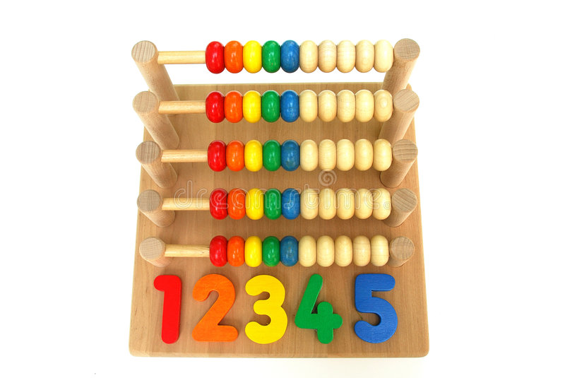 Abacus wooden toy stock image