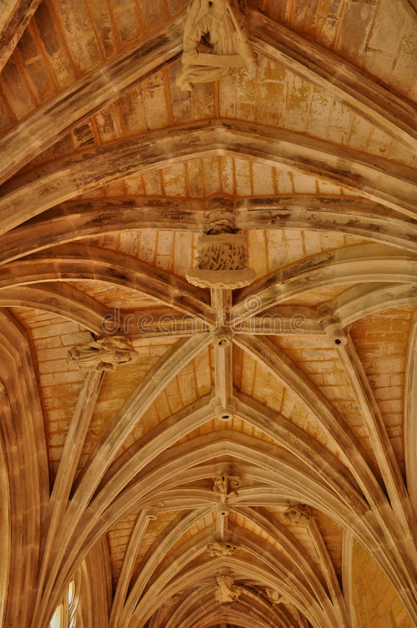 Abadía de Cadouin en Perigord imagen de archivo