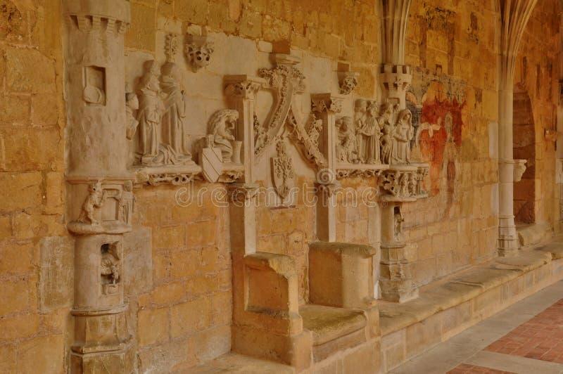 Abadía de Cadouin en Perigord foto de archivo