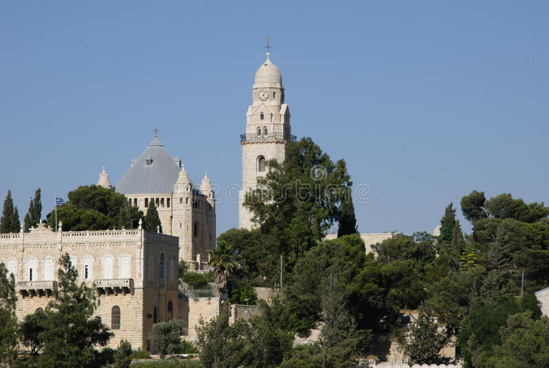 Abadía de Dormition, montaje Zion, Jerusalén, Israel foto de archivo libre de regalías