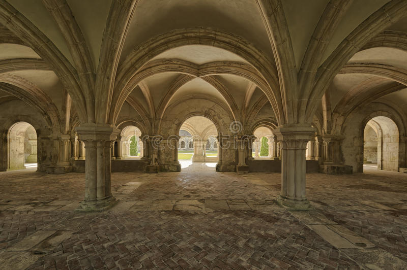 Abadía de Fontenay fotos de archivo