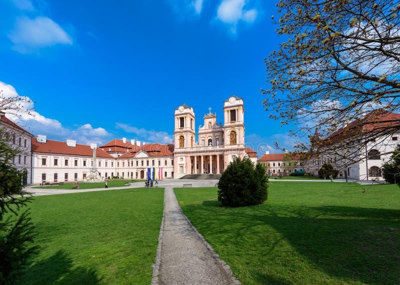 Abadía de Goettweig - monasterio benedictino cerca de Krems en una Austria más baja imagen de archivo