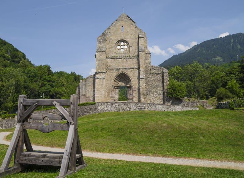 Abadía de los d'Aulps de Jean del santo, Francia imágenes de archivo libres de regalías