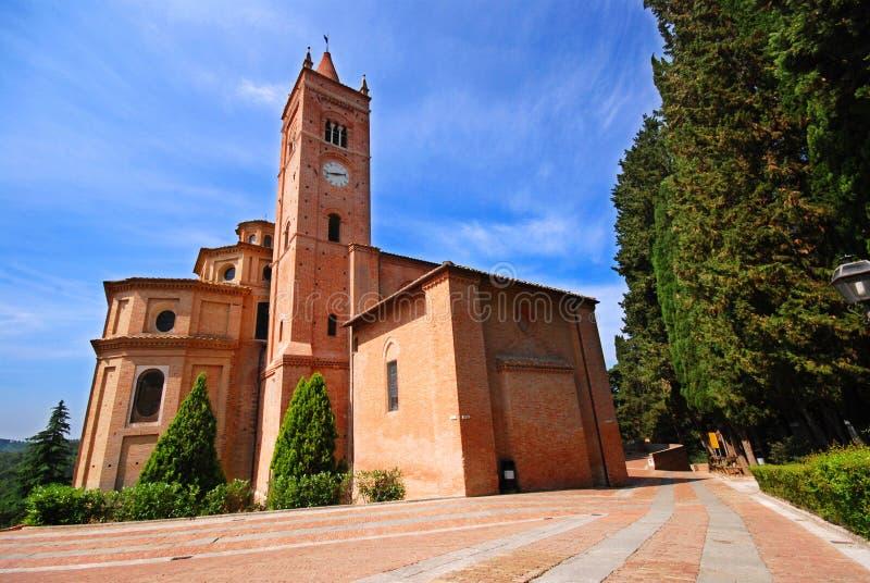 Abadía de Olivetto del montaje en Toscana foto de archivo
