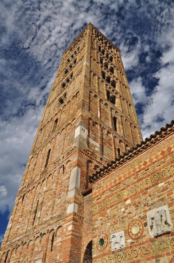 Abadía de Pomposa - monasterio benedictino, Italia fotos de archivo