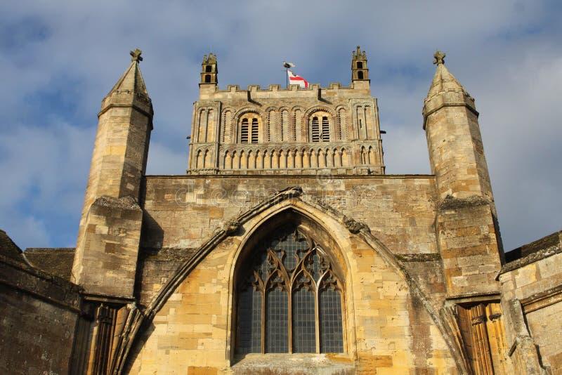 Abadía de Tewkesbury, Inglaterra, detalle arquitectónico fotografía de archivo