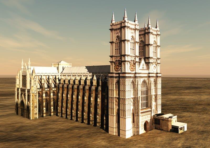 Abadía de Westminster stock de ilustración